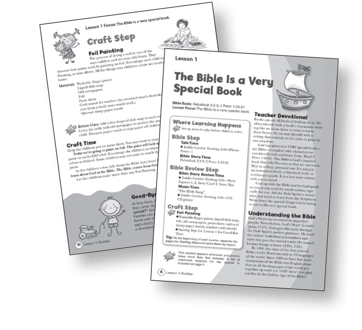 Toddler Children's Sunday School Curriculum Bible-in-Life Teachers Commentary